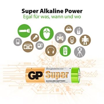 Batterien AAA Micro (LR03) Super Alkaline Vorratspack 80 Stück GP Batteries - 2