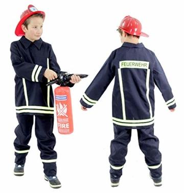 Foxxeo Feuerwehr Kostüm für Kinder 104/110