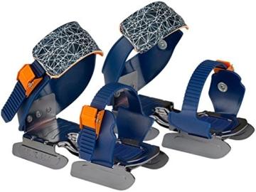 Nijdam Gleitschuhe für Kinder blau orange