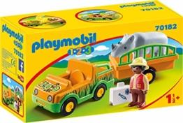 PLAYMOBIL 123 Zoo 70182 Zoofahrzeug mit Nashorn