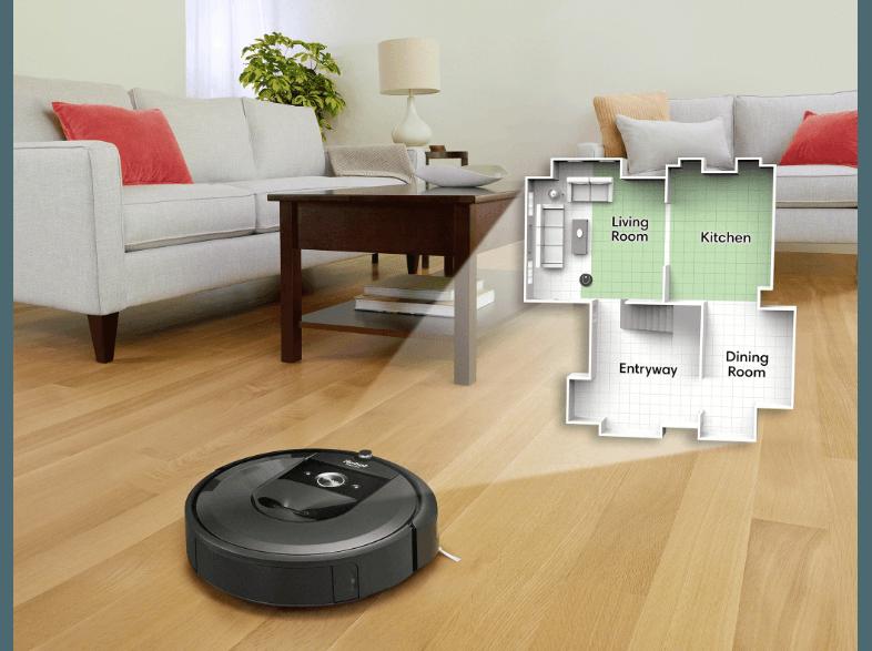 iRobot i7 intelligente Karte Unterschied mit Küche und Wohnzimmer