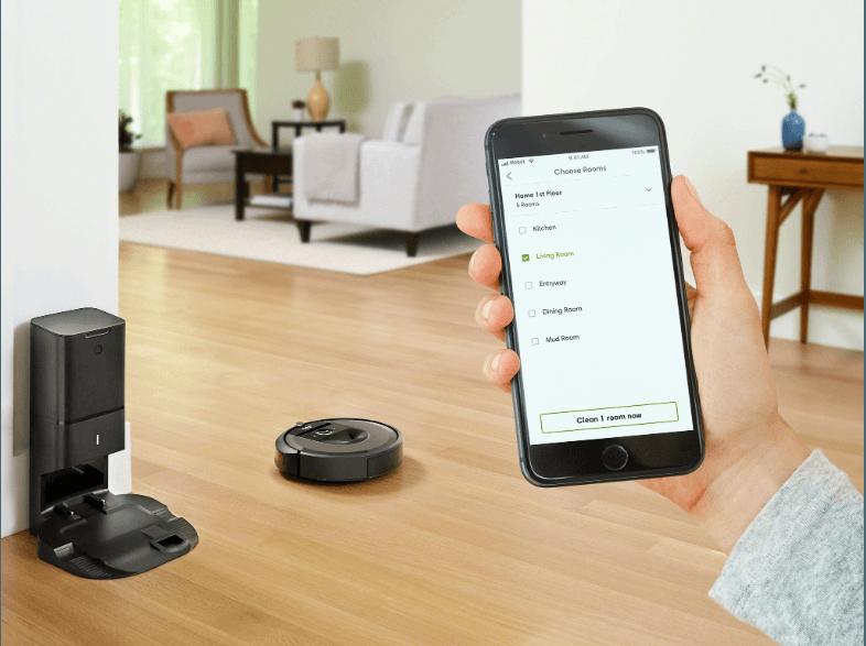 Mit dem neuen iRobot Roomba i7 kannst Du wählen, welche Räume gereinigt werden sollen. Das ist ein großer Unterschied zu den bisherigen Roombas.