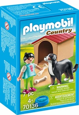PLAYMOBIL 70136 Country Hofhund mit Hütte
