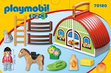 PLAYMOBIL 123 Mein Mitnehm-Reiterhof 70180