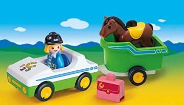 PLAYMOBIL 123 PKW mit Pferdeanhänger 70181