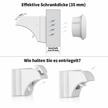 Norjews Magnetisches Schrankschloss 20 Schlösser mit 3 Schlüssel