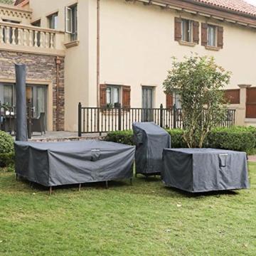 SONGMICS Schutzhülle Gartenmöbel 125x125x71cm