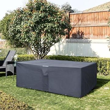 SONGMICS Schutzhülle Gartenmöbel 213x132x70cm
