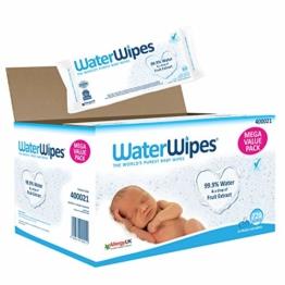 WaterWipes Baby Feuchttücher - 12 x 60 Feuchttücher