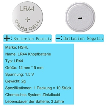 40 Stück AG13 LR44 1.5V Alkaline Knopfzelle