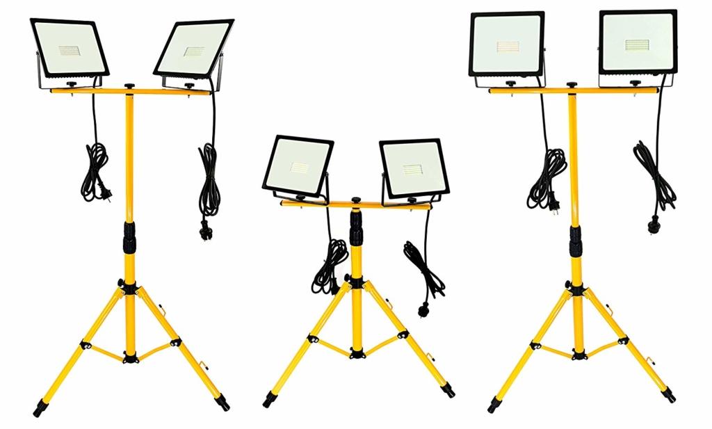 10+ Baustrahler - starke Auswahl an Halogen oder LED, Kabel oder Akku, mit oder ohne Stativ