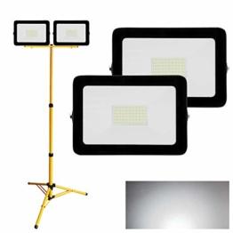 Hengda 2X LED Strahler 50W Kaltweiß + Stativ