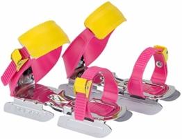 Nijdam Gleitschuhe für Kinder rosa gelb