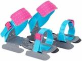 Nijdam Gleitschuhe für Kinder blau rosa