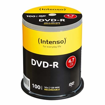 Intenso DVD-R 16x Speed 4,7GB 100er Spindel