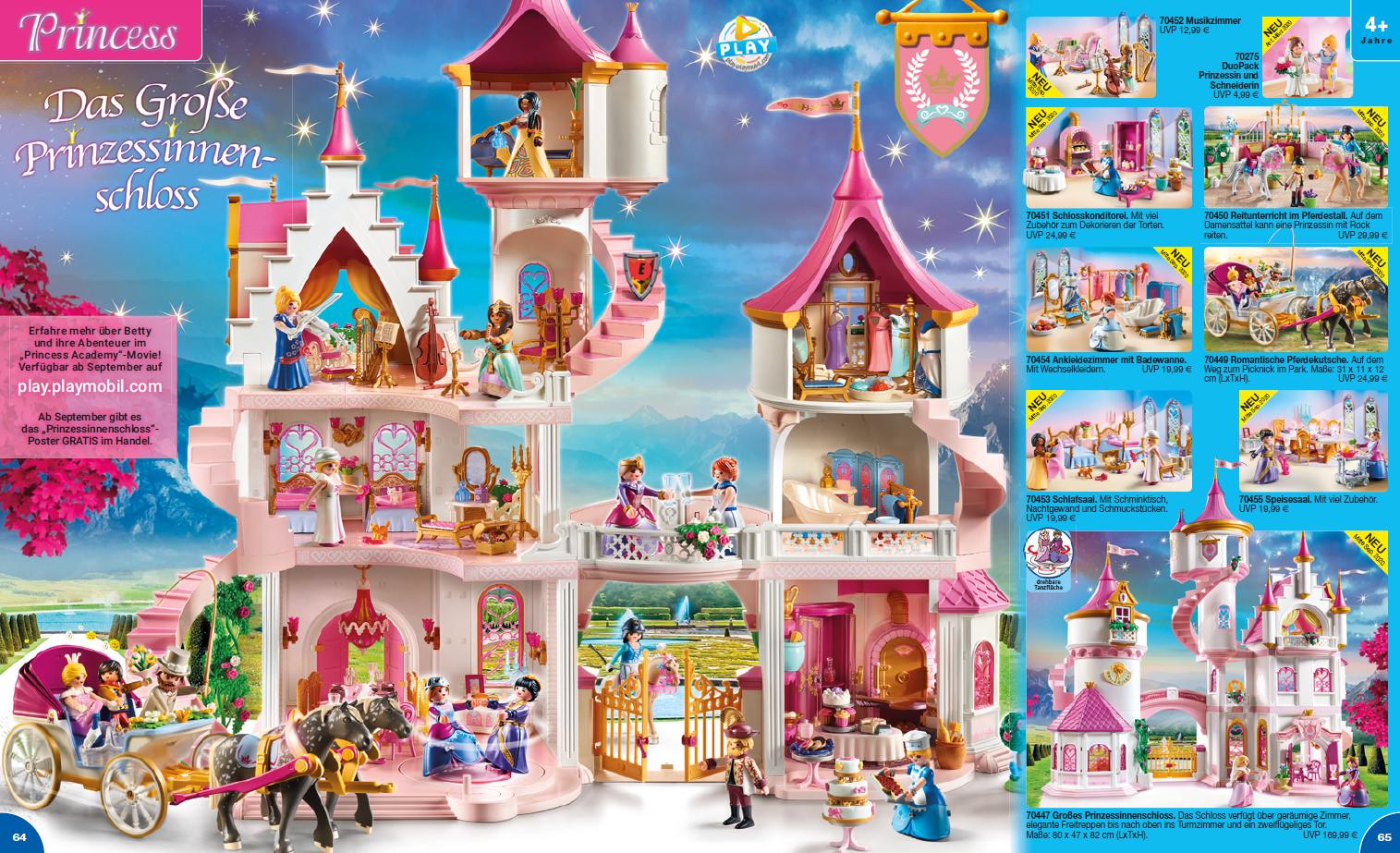 Playmobil Neuheit 2020 das große Prinzessinenschloss