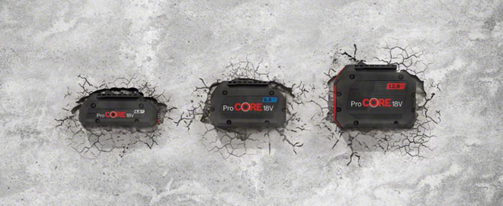 Perfekte und lange Arbeitsbeleuchtung durch Bosch ProCore Akkus