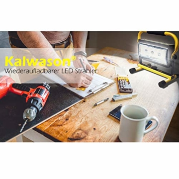 Kalwason LED Akku Baustrahler 80W gelb