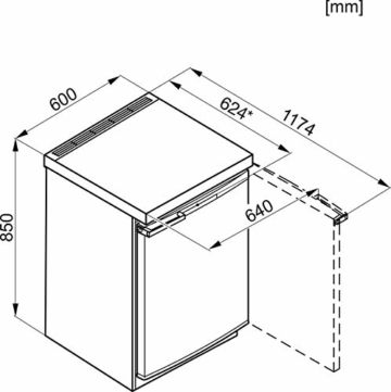 Miele F 12020S-3 D Maße