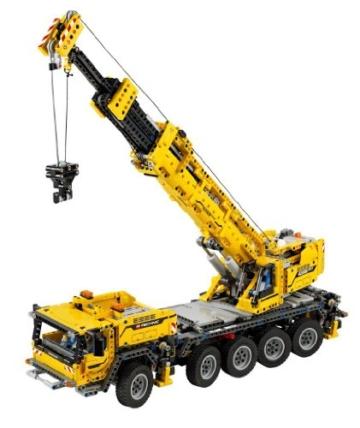 LEGO 42009 - der gelbe mobile Schwerlastkran mit angehobenem Kranarm
