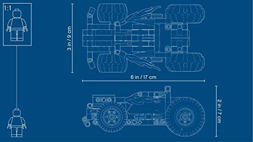 LEGO 42073 Größe des Modells - Pull Back Auto