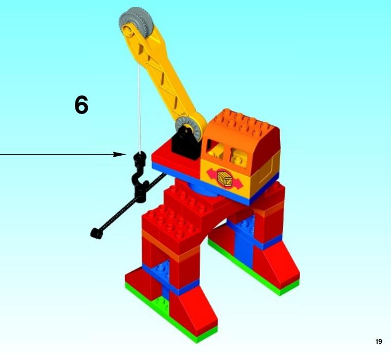 Der Kran aus dem Lego 10508 Duplo Eisenbahn Superset