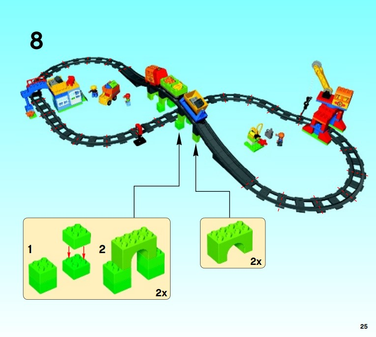 Lego 10508 - der Zusammenbau der Eisenbahnstrecke