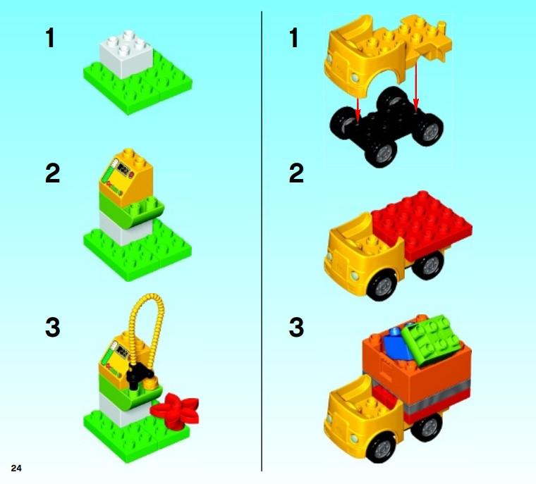 Lego 10508 - Zusammenbau der Tankstation und des LKW