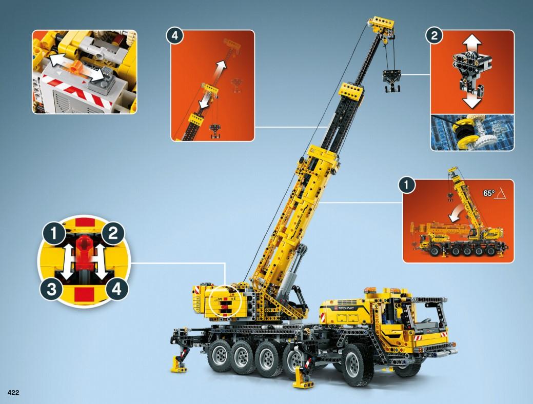 Lego 42009 - die möglichen Funktionen des mobilen Schwerlastkrans