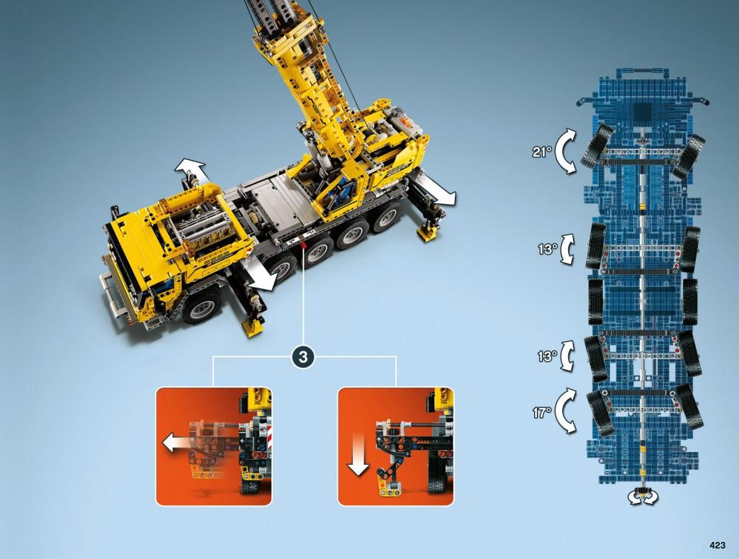 Lego 42009 - Lenkung und Stützen des A-Modells
