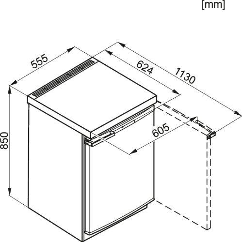 Miele F 12016S-2 die Maße