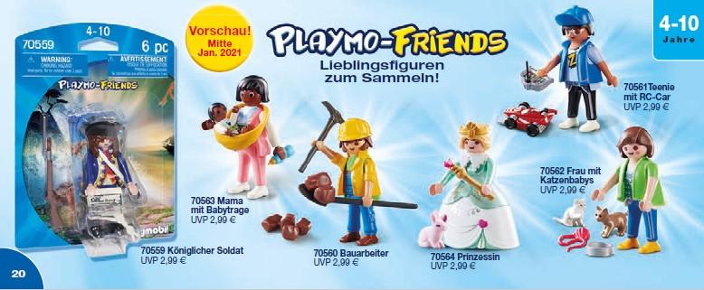 Playmobil 2021 - die Playmo-Friends im Januar