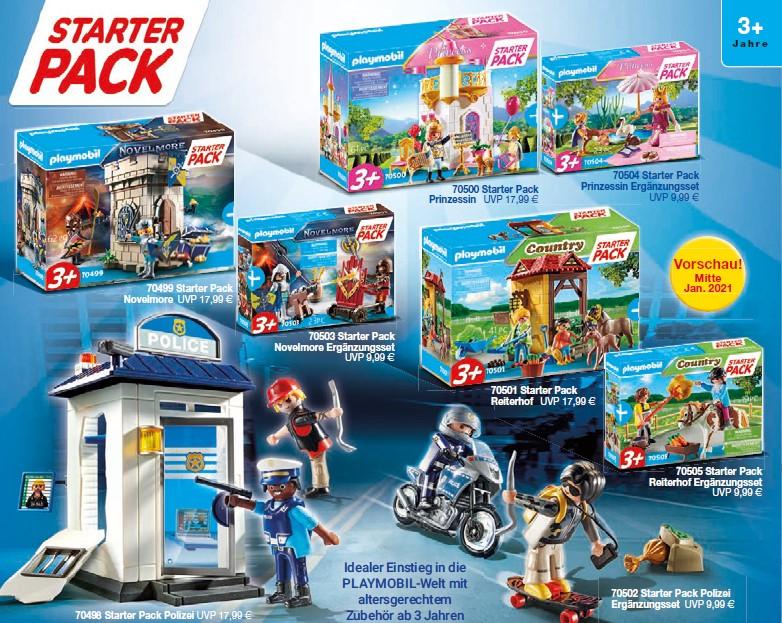 Playmobil 2021 - die Starterpacks im Januar