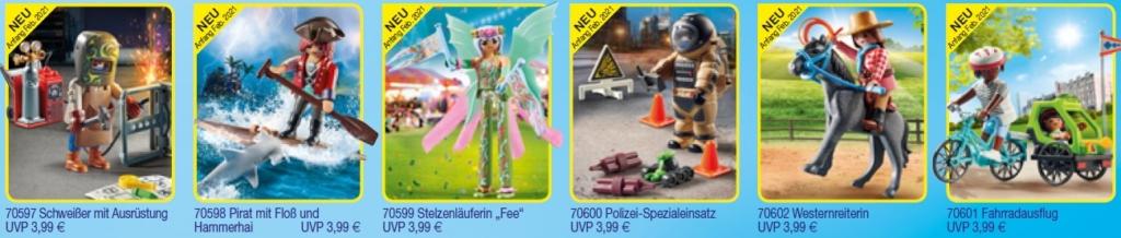 6 Special Plus Playmobil Figuren ab Anfang Februar 2021